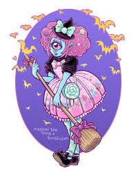 magical tea time creepycute creepy cute artwork