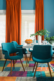 Orange Dining Room Sets New Orange And Blue Dining Room 93 For Your Home Design Ideas Gray