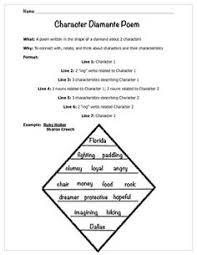 free diamante poem handout this diamante poem handout gives and