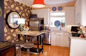 kitchens bohemian kitchen with l shapes kitchen counter and