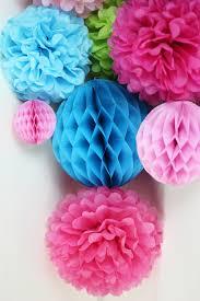 Pom Pom Decorations Aliexpress Com Buy 11pcs Blue Fuchsia Wedding Decorations