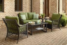 Agio Outdoor Patio Furniture by Agio International Sorrento 4 Piece Aluminum Woven Deep Seating
