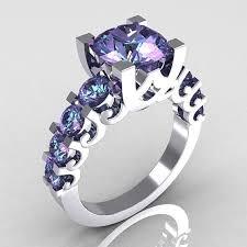 Purple Wedding Rings by Best 25 Alexandrite Ring Ideas On Pinterest Alexandrite