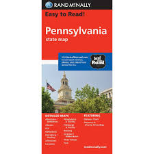 Lancaster Pa Zip Code Map by Rand Mcnally Easy To Read Pennsylvania State Map Rand Mcnally