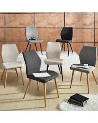 Upholstered Linen Dining Chairs On Sale Now 10 Off Inspire Q Abelone Contour Upholstered Dining