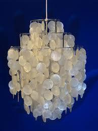 pearl chandelier vintage 1 dm of pearl chandelier by verner panton for