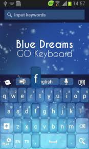go keyboard apk go keyboard blue dreams theme apk 3 7 free personalization app