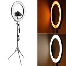 camera and lighting for youtube videos neewer camera photo video 18 dimmable ring fluorescent flash light