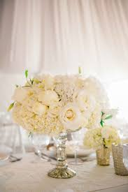 Wedding Reception Vases Reception Décor Photos White Rose U0026 Hydrangea Arrangement In