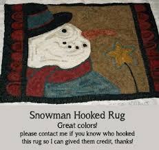 Snowman Rug Gallery Patterns By Teresa Kogut