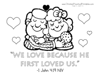 valentine u0027s bible coloring pages