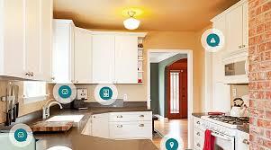 smart home interior design contemporary smart kitchen design applied brick wall and white