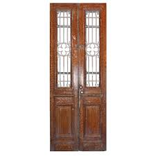 reclaimed french colonial revival door pair early 1900s