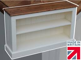 white pine bookcase 3ft x 5ft fully painted adjustable display