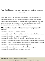 customer service resume top 8 at t customer service representative resume sles