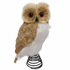 owl christmas smith white belly owl christmas tree topper shop your way