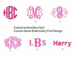 Initial Monogram Fonts Embroidery Monogram Etsy