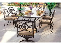 Glass Top Rectangular Dining Table Darlee Outdoor Living Glass Top Cast Aluminum Antique Bronze 72 X