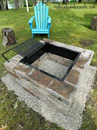 Firepit Grill Easy Diy Pit Kit With Grill Can Decorate