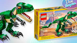 lego creator mighty dinosaur toys for kids t rex triceratops