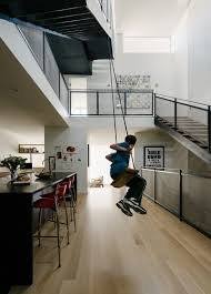 Three Story Houses by The Swing In The Kitchen Of This San Francisco House Is A