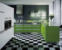 modern kitchen tile flooring kitchen modern kitchen design with green kitchen cabinet and