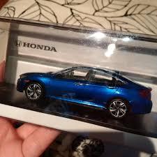 honda car models 1 43 scale 2016 honda civic touring aegean blue metallic 2016