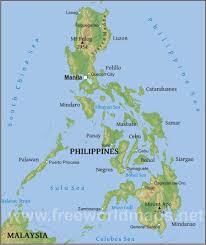 Asia Physical Map Philippines Physical Map