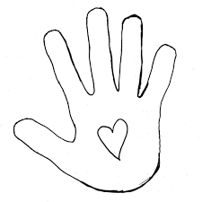 handprint coloring page handprint coloring page free coloring