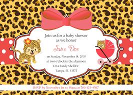 leopard print baby shower invitations dancemomsinfo com