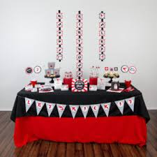 Black And Red Party Decorations Printable Spa Birthday Party Decorations U2014 505 Design Inc