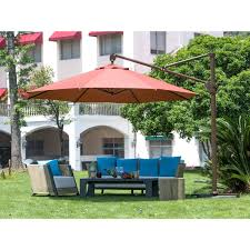 Outdoor Patio Umbrella Abba Patio 11 Foot Deluxe Octagon Offset Cantilever Patio Umbrella