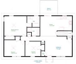 surprising simple ranch house plans with basement house floor