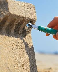 great ideas on sand castle building and not a puny sand castle