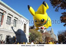 macy s thanksgiving day parade pikachu balloon new york