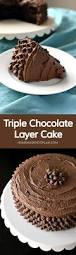 triple chocolate layer cake homemade hooplah