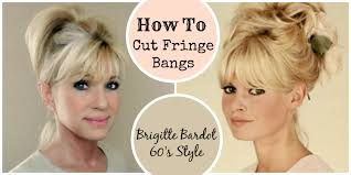 tony and guy hairstyles for women over 60 how to cut fringe bangs demo brigitte bardot 60 s style youtube