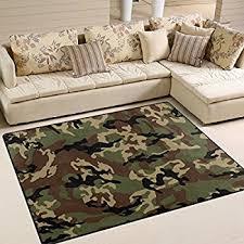 Camo Area Rug Alaza Camouflage Camo Area Rug Rugs Mat For
