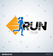 run club logo template sport logotype stock vector 368267138
