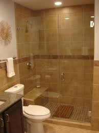 bathroom glass shower door design idea with brown ideas gold