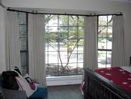 How To Put Curtains On Bay Windows How To Put Up Curtain Rods In A Bay Window Integralbook Com