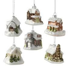 bethany lowe 6 victorian mini village house christmas ornaments