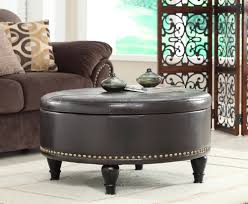 round ottoman with storage elegant living room with large round