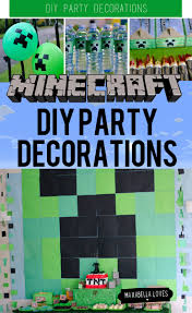 minecraft party invites the best diy minecraft party decorations especially on a budget
