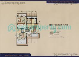 semi detached villas floor plans justproperty com