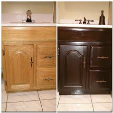 Refinish Vanity Cabinet Restaining Bathroom Cabinets Home Design Inspirations