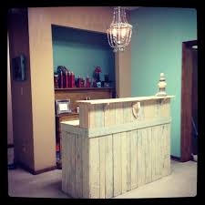 ikea reception desk ideas pallet furniture ideas for a hair salon salon reception desk ikea