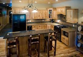 Hickory Kitchen Cabinet by Hickory Cabinets With Black Granite Countertops Our Future Home