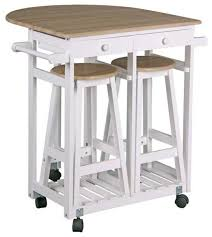 kitchen trolleys and islands kitchen trolley with 2 stools and drawers style regarding