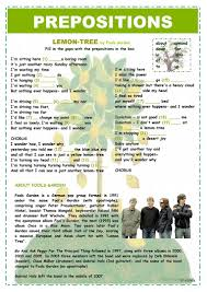 prepositions lemon tree worksheet free esl printable